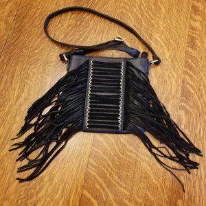 Faux Leather Fringe Crossbody Purse